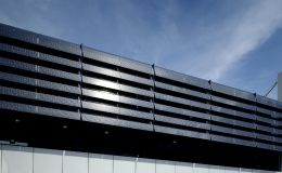 Shadovoltaic glass louvres